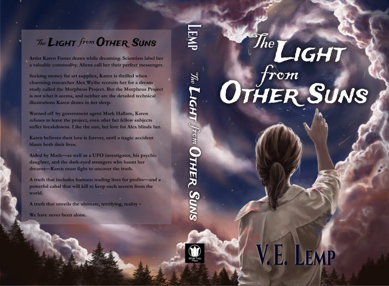 The Light from Other Suns by V.E. Lemp -- book cover design by Veronica Bartles. Cover Art by Anne Drury