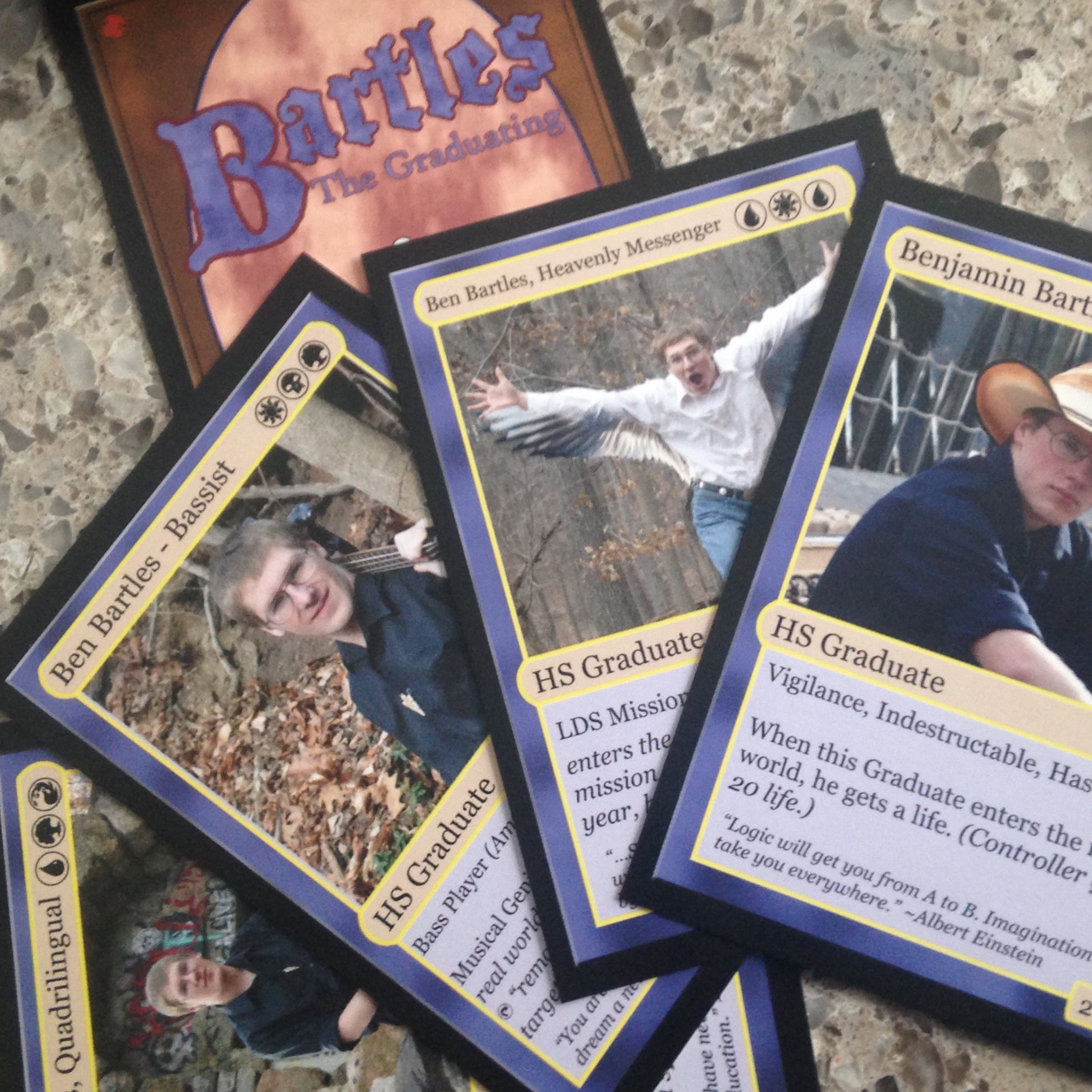 Bartles the Graduating - Spoof on Magic the Gathering cards